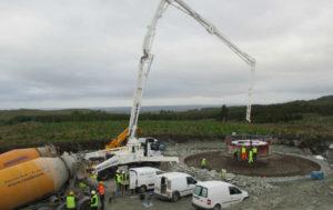 Construction work at Meenadreen wind farm